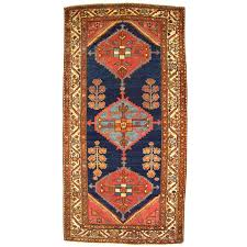 Small Runner Rug Antique Persian Hamadan Oriental Rug In Small Runner Size With