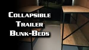 Single Bed Designs Foldable Collapsible Trailer Bunk Beds Youtube