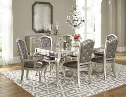 diva metallic rectangular extendable leg dining table from samuel
