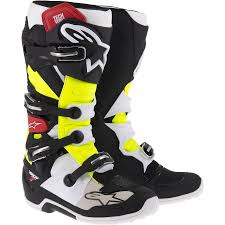 black motocross gear 2014 new tech 7 motocross boots black red yellow 2014