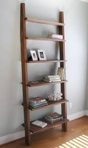 Single Bookcase Hand Crafted Single Leaning Bookshelf Bookcase In Walnut By