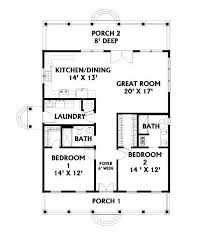 two bedroom two bath floor plans bedroom 2 house plans with porches