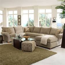 Klaussner Fabrics Spacious Sectional With Chaise Lounge By Klaussner Wolf And