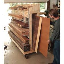 Wood Storage Rack Woodworking Plans by Rolling Lumber Cart Downloadable Plan Lumber Rack Garage