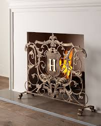 monogrammed fireplace screen fireplace screens monograms and