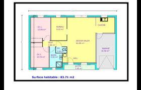 plan maison 80m2 3 chambres plan maison 80m2 3 chambres great plans de maison tage modle