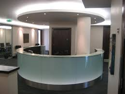Rounded Reception Desk by 8 Ways To Use Glass Into The Office Bear Glass Blog