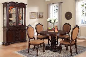 carved round dining table by poundex f2187 huntington beach