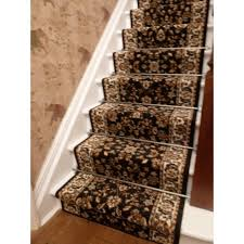 Staircase Runner Rugs Stair Luxury Home Interior Design With Brown Leopard Printed Motif