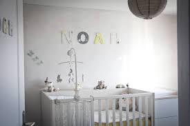 lettre chambre enfant noah blanc gris et jaune lettres en bois personnalisées