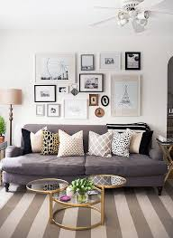 mismatching gallery wall living rooms and walls