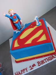 Superman Decoration Ideas by Superman Birthday Cakes Reha Cake