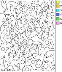 coloring pages new color by number pages preschool free printable