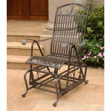 Wrought Iron Patio Swing by International Caravan Tropico 4 Ft Wrought Iron Curved Back Porch