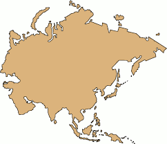 Blank Outline Map Of Asia Printable by Outlines Clipart