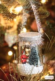decorate your tree with diy snow globes