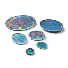 real blue opal gemstone cabochons