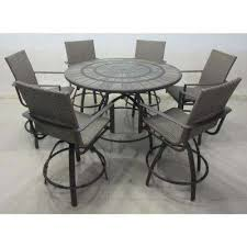 Patio Chairs Bar Height Bar Height Dining Sets Outdoor Bar Furniture The Home Depot