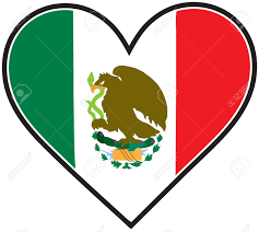 a mexican flag shaped like a heart royalty free cliparts vectors