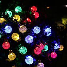 Solar Lights For The Garden Holigoo Led Strip 30 Led Crystal Ball Light String Solar Power