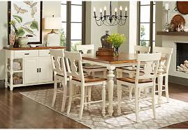 cottage dining room sets hillside cottage white 5 pc counter height dining room 688 00