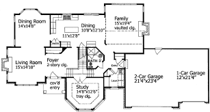 T Shaped House Floor Plans T Shaped Staircase 19570jf Architectural Designs House Plans