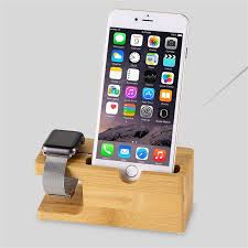 iwatch theme for iphone 6 wooden charging bracket holder for iphone iwatch
