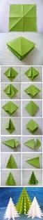 árboles de navidad con origami origami craft and diy ideas