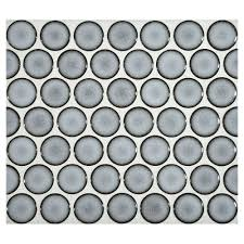 Best 25 Penny Round Tiles by Complete Tile Collection Penny Round Mosaic Blue Frost Gloss