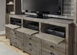 keeblen grayish brown entertainment wall unit from ashley w678 23