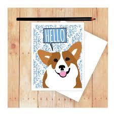 Corgi Birthday Meme - corgi card dog birthday card cute dog card corgi art corgi
