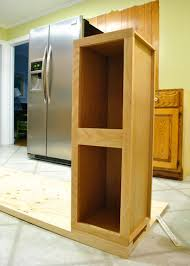 How To Build A Display Cabinet by How To Build In Your Fridge With A Cabinet On Top Young House Love