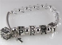 religious jewelry 4030741 pray beaded charm stretch bracelet christian religious