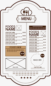 retro restaurant menu template png and vector for free download