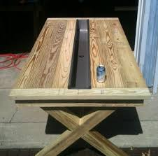 rustic outdoor picnic tables builders showcase rustic outdoor table with trough the design