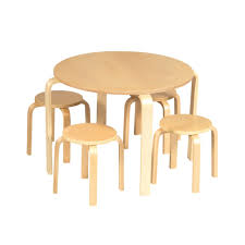Kids Wooden Table And Chairs Set Wood Tables And Wooden Chair At Daycare Furniture Direct Wooden
