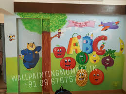 kids room cartoon painting pre school cartoon wall murals in we are make your school so beautiful and unique we are specialised for hand painted wall murals for your schools looks beautiful