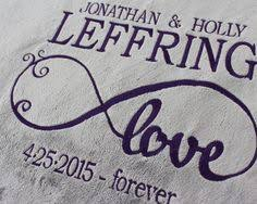 personalized wedding blanket personalized blanket embroidered for happy makes a great