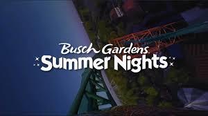 busch gardens family package summer nights at busch gardens williamsburg youtube
