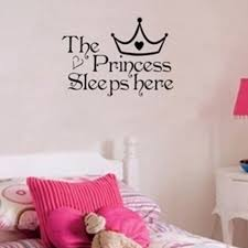 popular wall stickers quotes for girls buy cheap wall stickers baby princess sleeps here quotes wall sticker girl gift bedroom nursery crown decor wall art