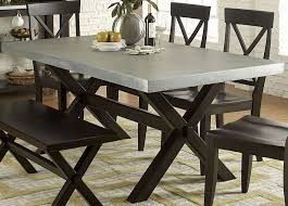Keaton II Charcoal Trestle Dining Table From Liberty T - Trestle kitchen table