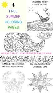 four free summer coloring pages summer u2022 winter u0026 sparrow