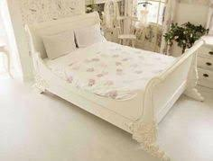 french shabby chic marseille upholstered bed white distressed wood