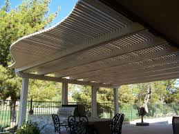 adorable awnings for patio doors from light brown canvas fabric
