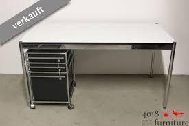 Schreibtisch Rollcontainer Haller Schreibtisch Perlgrau Mit Rollcontainer Schwarz