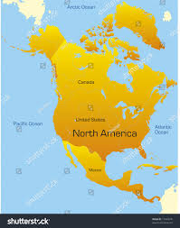 abstract map north america continent stock vector 17494576