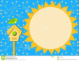 House Invitation Card Bird House And Sun Invitation Card Stock Illustration Image