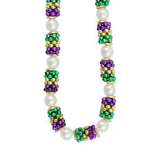 mardi gras beeds handstrung mardi gras pearl cluster bead necklace c st031r pgg