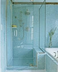 shimmering glass tile shower bathroom decorating design bathroom