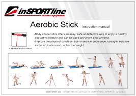 strength training with elastic pole insportline 100 cm insportline